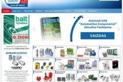 layout strony www z komponentami automatyki przemysłowej