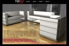 Layout strony www z meblami